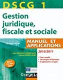 DSCG 1 - Gestion juridiques, fiscale et sociale