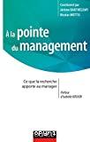 À la pointe du management