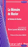 Le mémoire de master en sciences de gestion