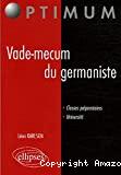 VADE-MECUM DU GERMANISTE