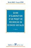 Guide d'élaboration d'un projet de recherche en sciences sociales