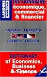 Dictionnaire de l'anglais économique et commercial