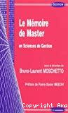Le mémoire de master en sciences de gestion