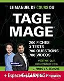 Le manuel de cours du TAGE MAGE
