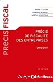 Précis de fiscalité des entreprises, 2016-2017