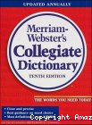WEBSTER'S NINTH NEW COLLEGIATE DICTIONARYEn anglais.
