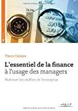 L'essentiel de la finance à l'usage des managers