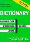 DICTIONARY OF COMMERCIAL, FINANCIAL AND LEGAL TERMS TOME 1 ENGLISH-GERMAN-FRENCH