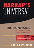 HARRAP'S UNIVERSALDictionnaire Allemand-Français - Français-Allemand
