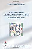 Introduction à l'analyse économique