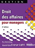 Droit des affaires pour managers