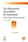 DOCUMENTS DE SYNTHESE DE L'ENTREPRISE : Aide à la lecture de la liasse fiscale (LES)