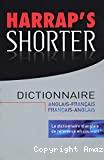 Harrap's shorter : dictionnaire anglais-français, français-anglais