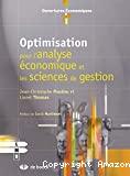 Optimisation pour l'analyse économique et les sciences de gestion