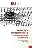 De l'éthique entrepreneuriale à l'entrepreneuriat soutenable
