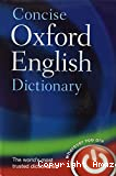 Concise Oxford eglish Dictionnary