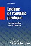 Lexique de l'anglais juridique